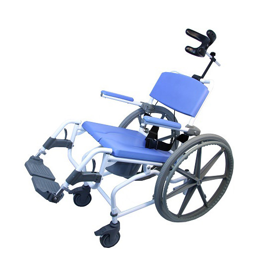 EZee Life 195 Aluminum Tilt Rehab Shower Commode Chair