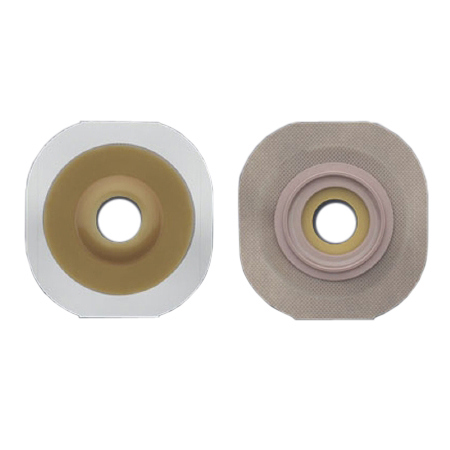 "Hollister colostomy barrier flexwear tape 1-3/4"" flange green code hydrocolloid 1"" stoma"