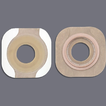 "New image flextend pre-cut, tape 2-1/4"" floating flange red code 1-3/4"" stoma"