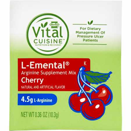 L-Emental Arginine Oral Supplement, Cherry, 10.3 Gram Packet