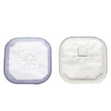 """Hollister stoma cap with porous cloth tape adhesive 3"""" opening 4-1/4"""" size"""