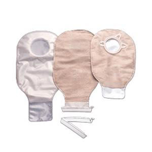"""CenterPointLock Colostomy Pouch, 11"""" Length, 1 3/4"""" Flange, Beige, Drainable"""
