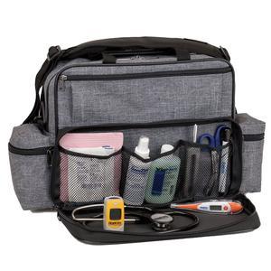 "Hopkins Home Health Shoulder Bag, Antimicrobial, 14"" x 11-1/2"" x 8"""