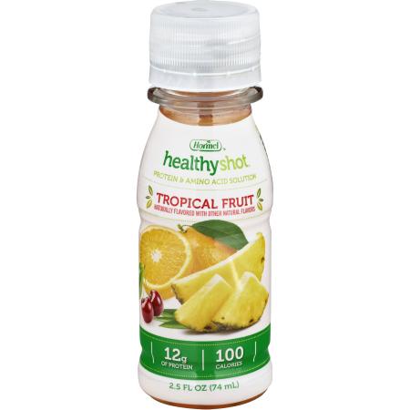 Healthy Shot Protein Oral Protein Supplement, Tropical, 2.5 oz. Bottle