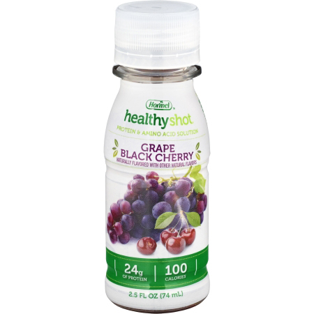 Healthy Shot Double Protein Oral Protein Supplement, Grape, 2.5 oz. Bottle