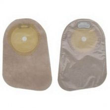 """Hollister Premier 1-Piece Pre-Cut Drainable Pouch with Integrated Closure,1-5/8""""stoma, Beige"""
