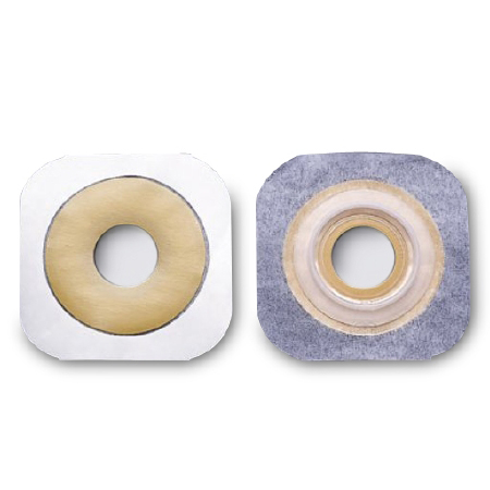 """FlexTend Hydrocolloid Colostomy Barrier, Flat, Floating Flange, 2 1/4"""" Flange, 1 1/2"""" Stoma"""