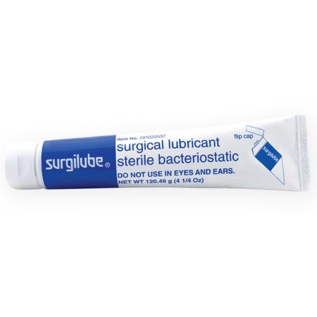 Surgilube Sterile Lubricating Jelly with Flip-Top cap, 4.25 oz. Tube