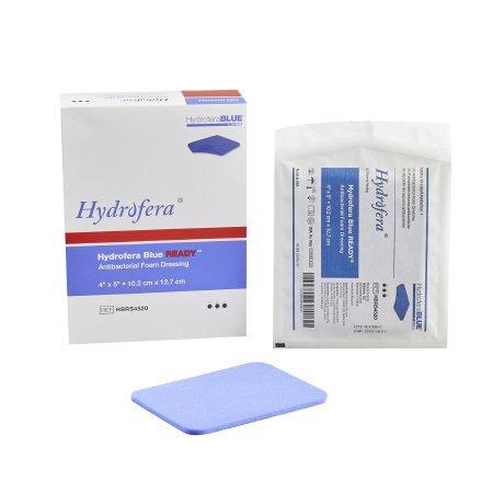 "Hydrofera Blue Ready Foam Dressing, Non-Cytotoxic, 4"" x 5"" without Border"