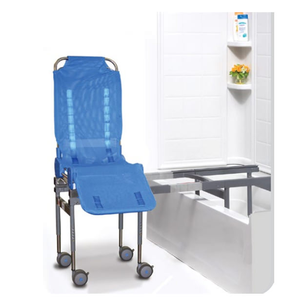 Ultima bath transfer chair with compact transfer base