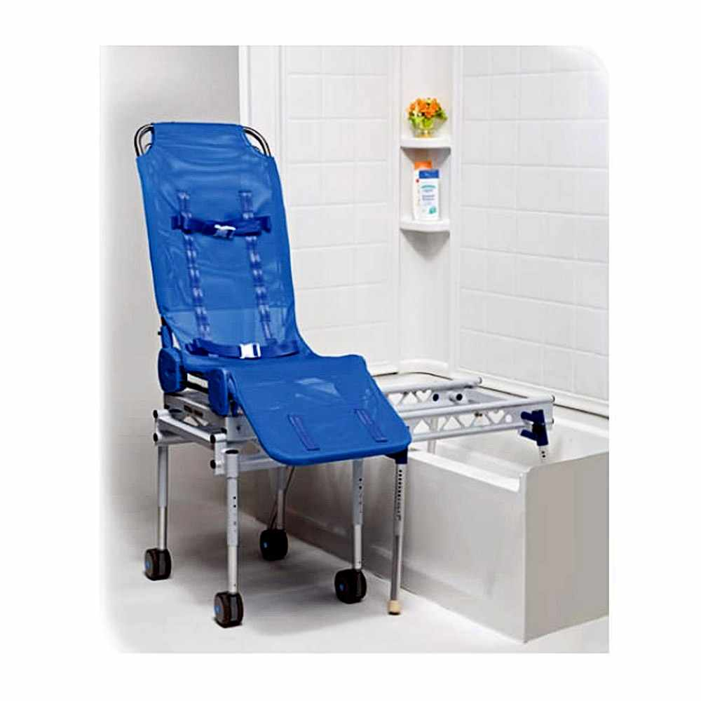 Ultima bath transfer chair with foldable transfer base