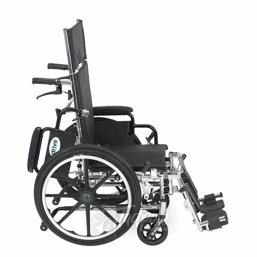 Viper plus reclining wheelchair side view