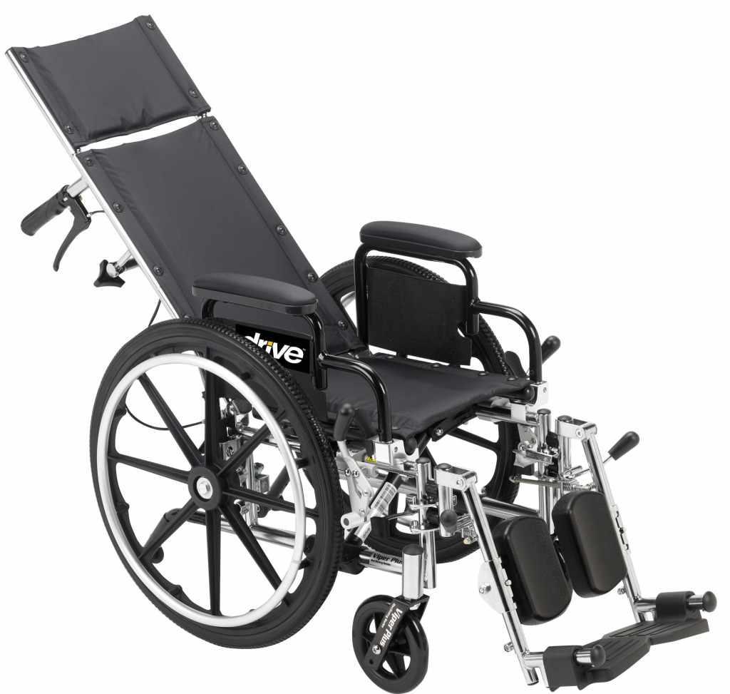 Viper plus wheelchair recline feature