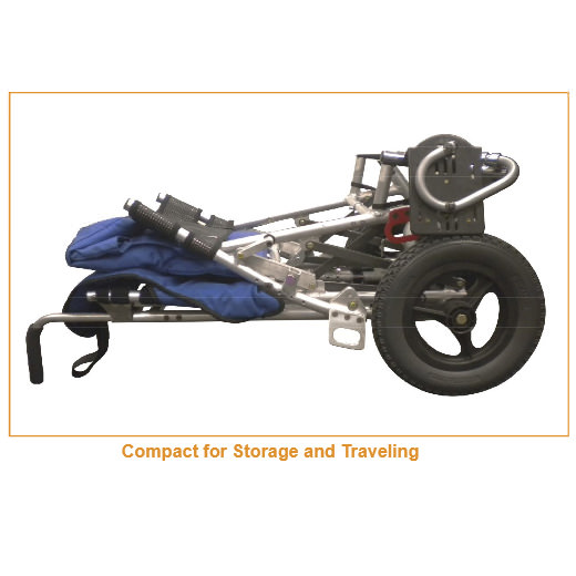 Sprout wheelchair folded