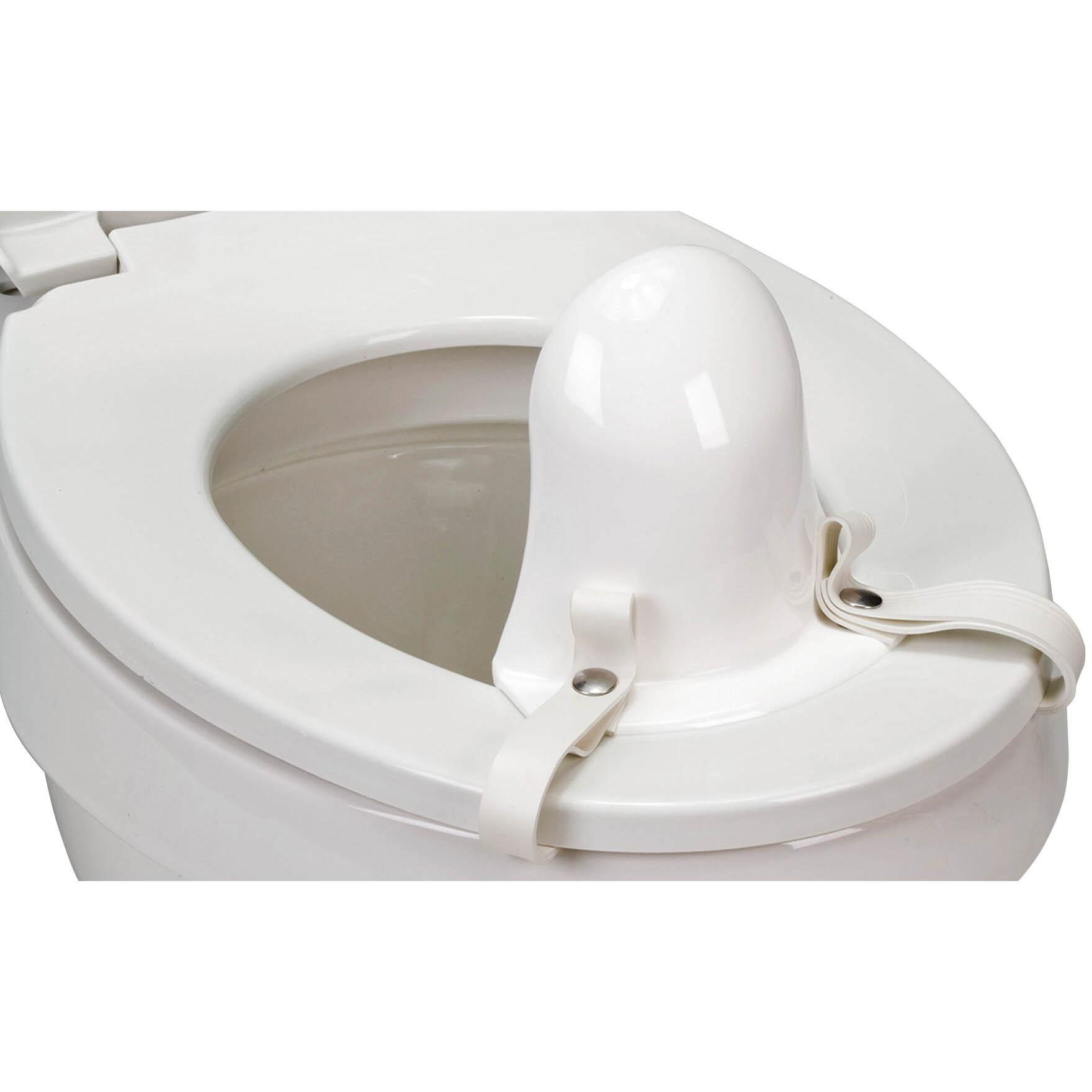 Soft-Flex splash guard for toilet support system