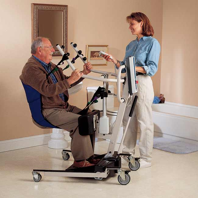 Invacare Reliant 350 Stand-Up Lift With Manual Low Base | Medicaleshop
