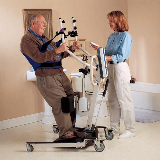 Invacare Reliant 350 Stand-Up Lift With Manual Low Base | Reliant 350 Standing Aid