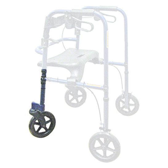 Invacare Adult Front Leg Extension Assembly Kit, Rollite Rollator, Midnight Blue