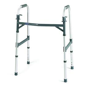 """Invacare Dual-Release Adult Heavy-Duty Paddle Walker, 17-1/2"""" D"""