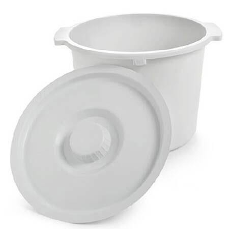 Invacare Polypropylene Plastic Commode Pail, 12 Quart