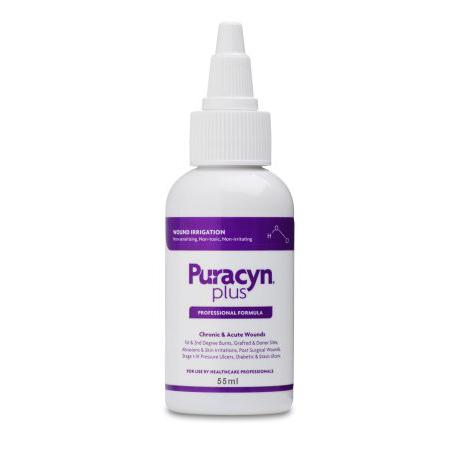 Puracyn Plus Professional Wound Irrigation Solution, 55 mL