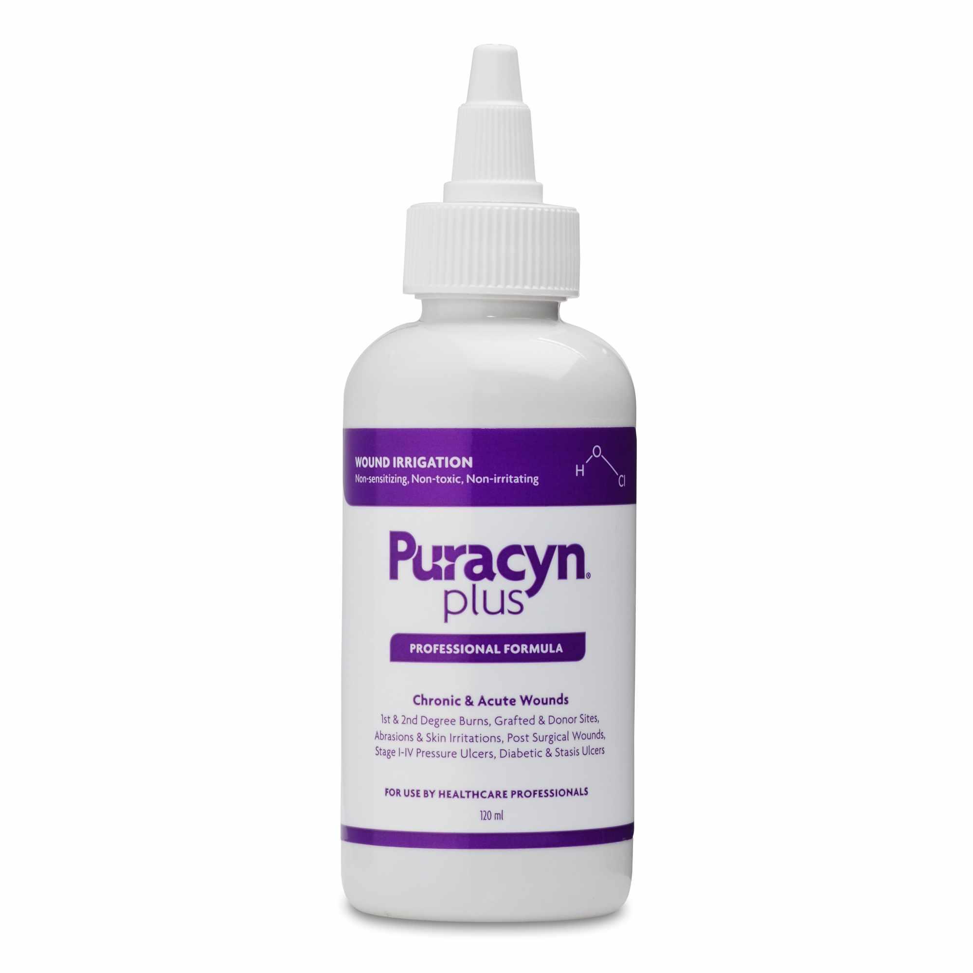Puracyn Plus Professional Wound Irrigation Solution, 120 mL
