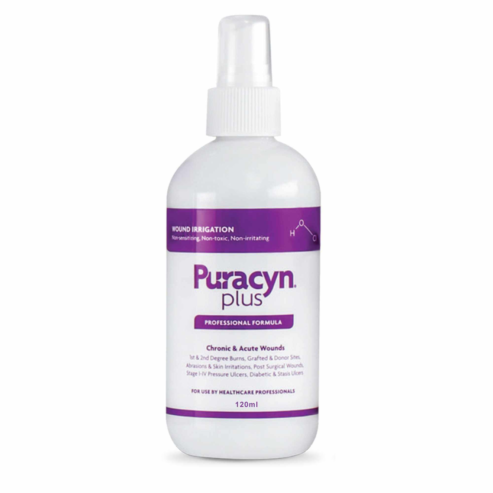 Puracyn Plus Professional Pump Spray Wound Irrigation Solution, 120 mL