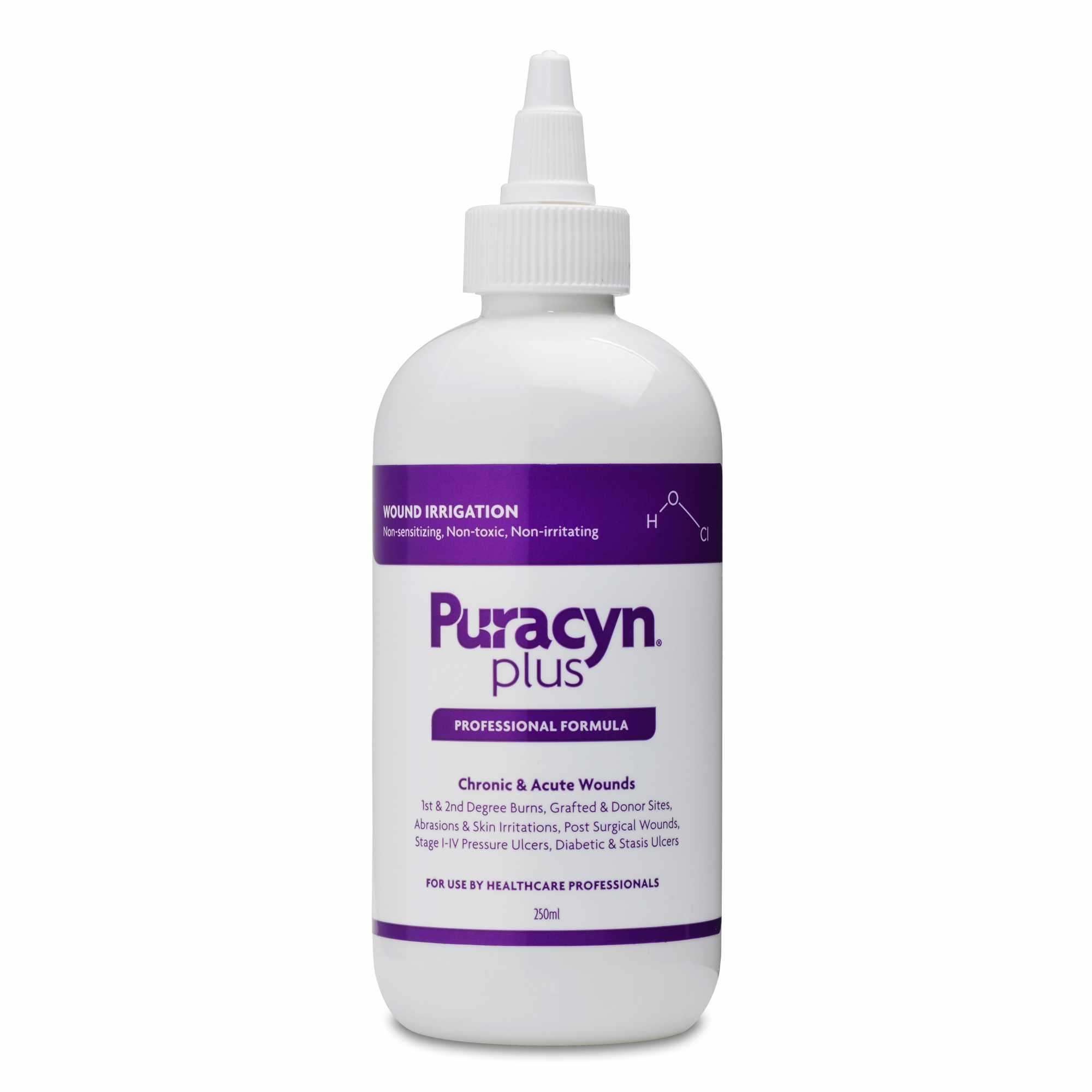Puracyn Plus Wound Irrigation Solution, Twist Pour Applicator, 250mL