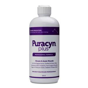 Puracyn Plus Professional Flip Top Wound Irrigation Solution, 500mL