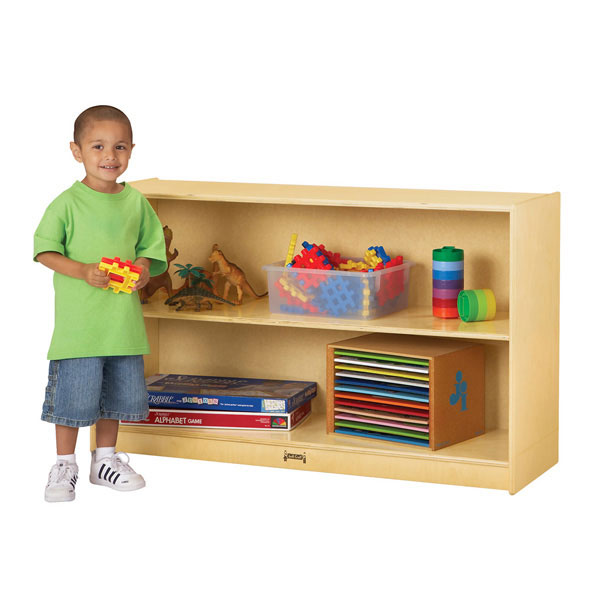 Jonti-Craft low mobile straight-shelf