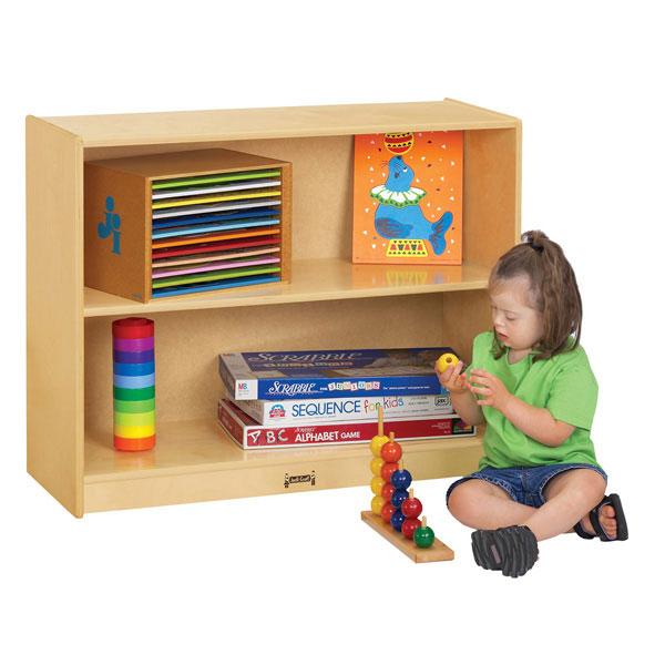 Jonti-Craft straight-shelf storage