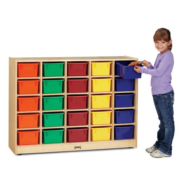 Jonti-Craft 25 cubbie-tray mobile storage