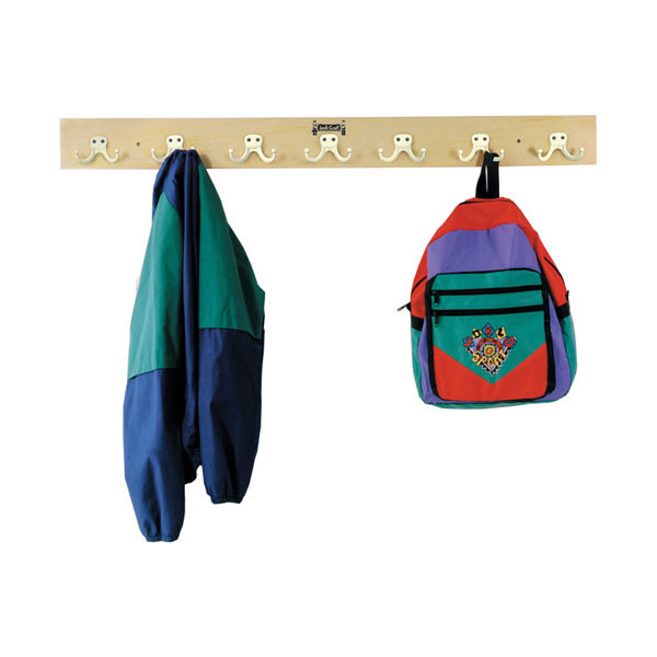 Jonti-Craft wall mount coat rail - 7 hooks