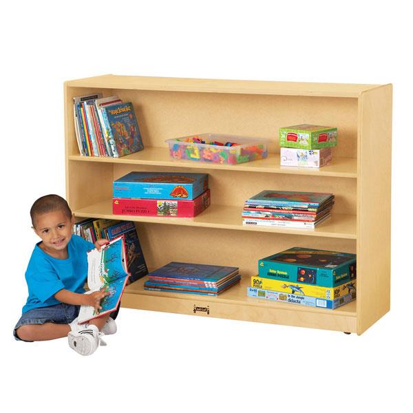 Jonti-Craft super-sized adjustable mobile straight-shelf