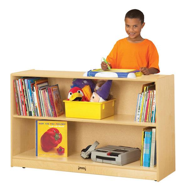 Jonti-Craft low adjustable mobile straight-shelf