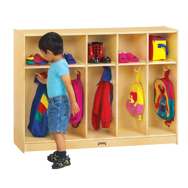 Jonti-Craft toddler 5 section coat locker