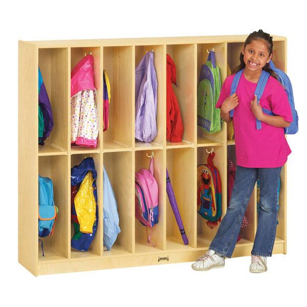 Jonti-Craft twin trim locker