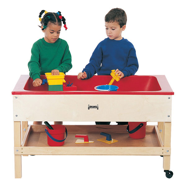 Jonti-Craft sensory table with shelf