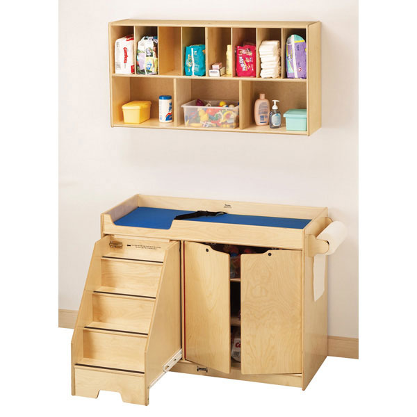 Jonti-Craft changing table with stair
