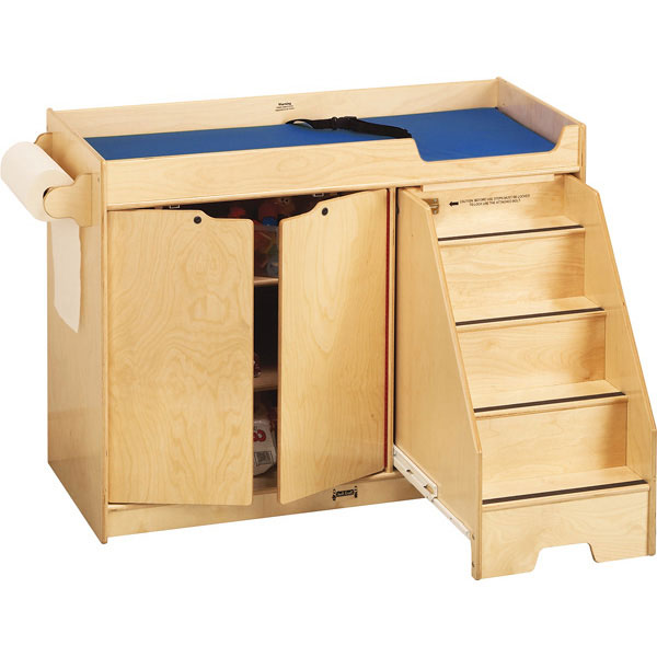 Changing table with stair