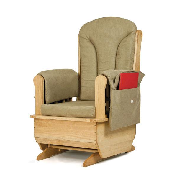 Jonti-Craft glider rocker chair with olive cushion