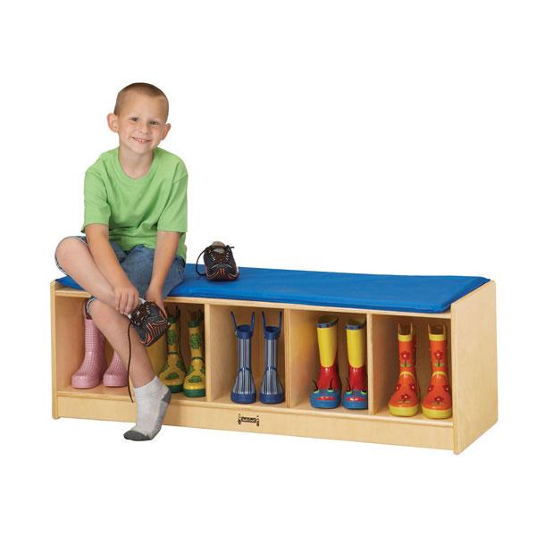 Jonti-Craft 5 section bench locker