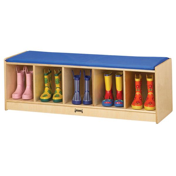 5 section bench locker