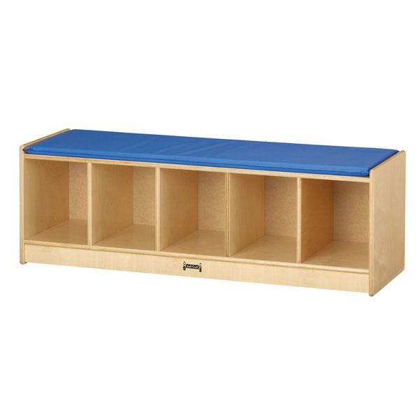Jonti-Craft 5 section bench locker - Blue (9093JC)