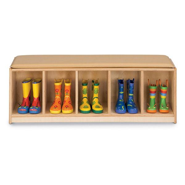 Jonti-Craft 5 section bench locker - Camel (90935JC)