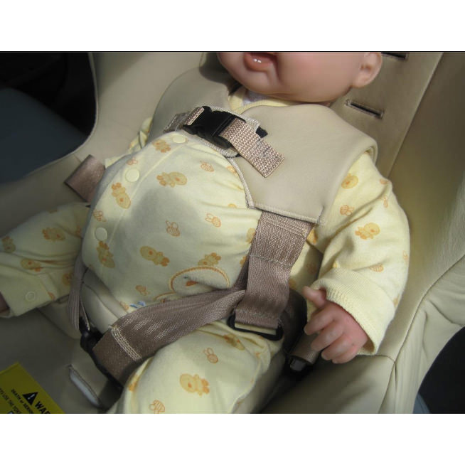 Jefferson car seat for child with Omphalocele