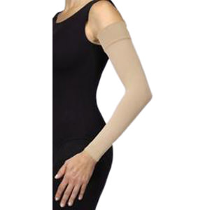 Jobst Bella Strong Armsleeve with Silicone Band, Size 6, Long, Natural