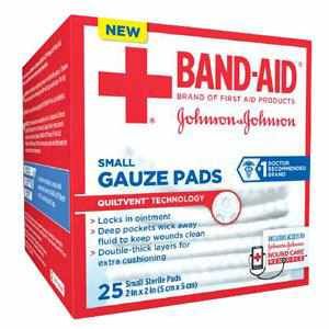 Band-Aid First Aid Gauze Pads Small