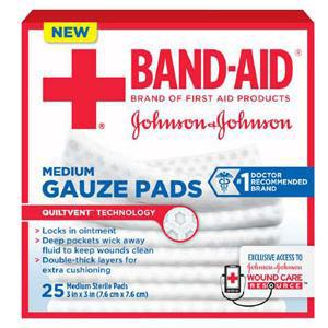Band-Aid First Aid Gauze Pads Medium