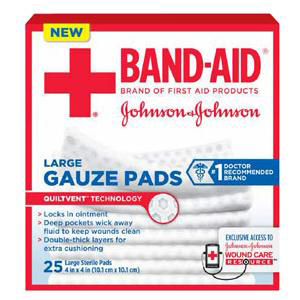 Band-Aid First Aid Gauze Pads Large